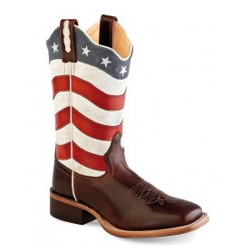 Stivali Old West  USA flag
