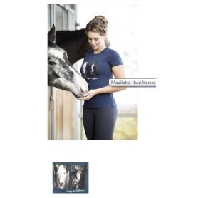 maglietta two horses